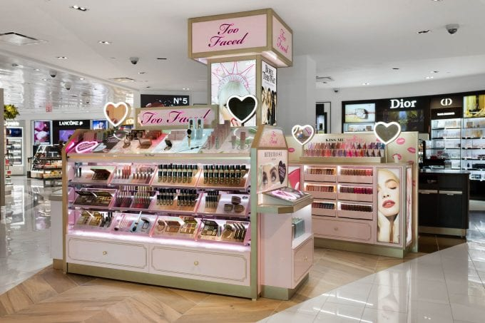 Too Faced makeup makes duty-free debut with DFS at New York JFK T4