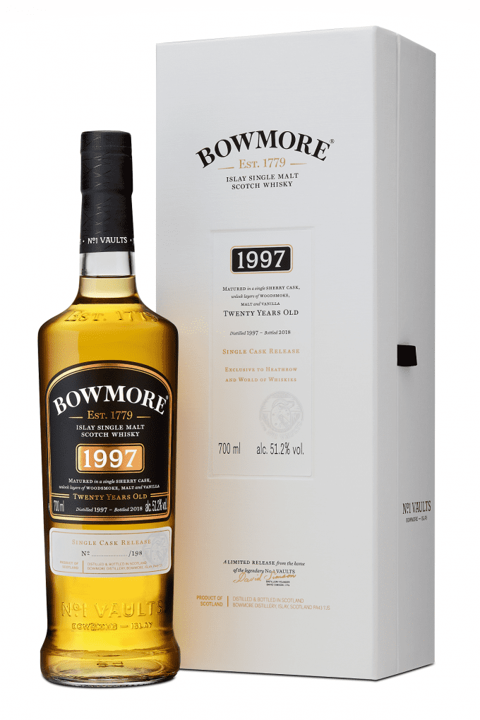 Rare Bowmore 1997 Single Malt to sell exclusively to global travellers at Heathrow