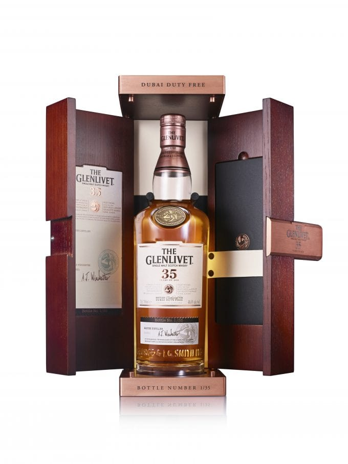 The Glenlivet honours Dubai Duty Free's 35th anniversary with extremely rare 35 year old limited edititon