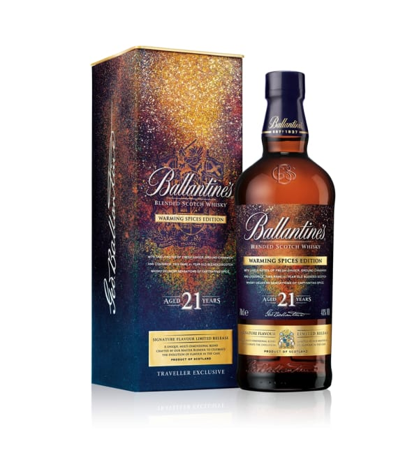 Ballantine's unveils limited edition 21 year old 'Warming Spices' whisky as duty-free exclusive