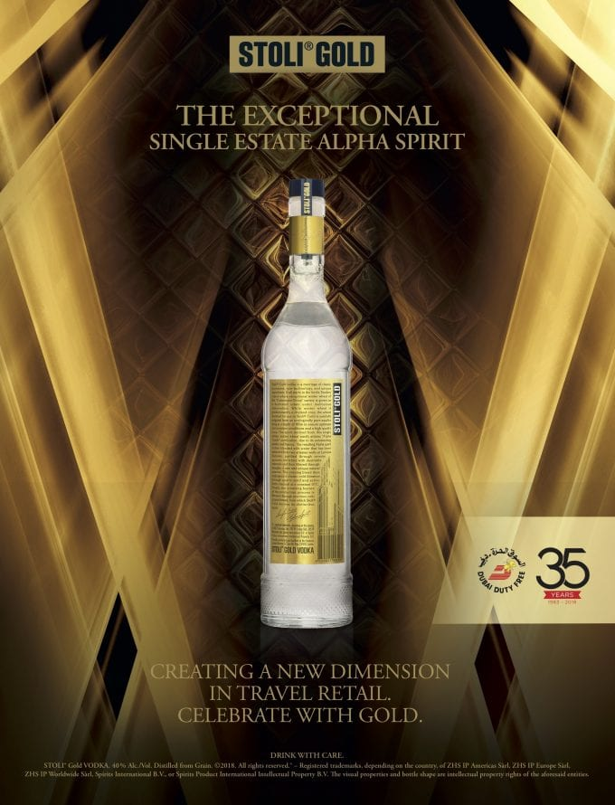 Stoli releases limited edition Stoli Gold to celebrate 35 years of Dubai Duty Free