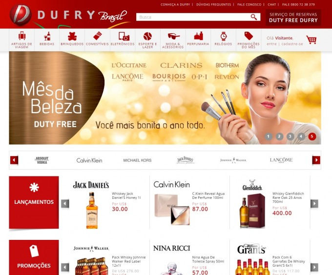 Dufry Brasil unveils new pre-order website