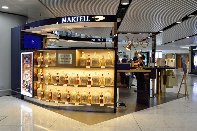 Martell pops up at Hong Kong airport
