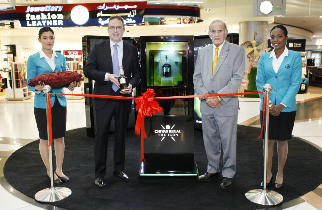 Laurent Lacassagne, Chairman and CEO Chivas Brothers, Colm McLoughlin, Executive Vice Chairman of Dubai Duty Free
