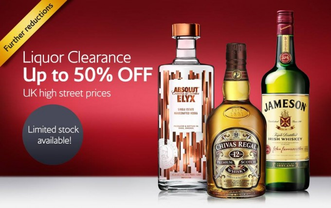 SAVE: Liquor clearance sale on British Airways High Life Shop