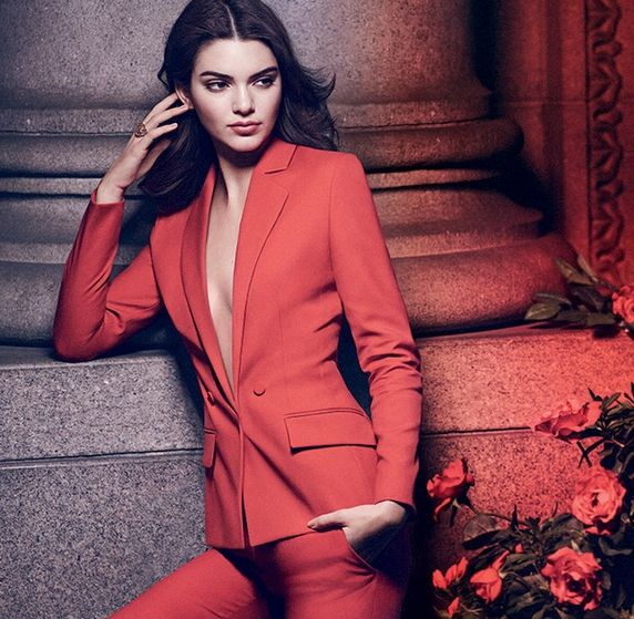 RED HOT: Kendall stars as Estee Lauder's Modern Muse