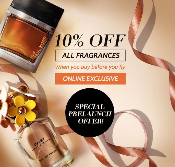 SAVE: 10% OFF fragrances when you buy before you fly with British Airways