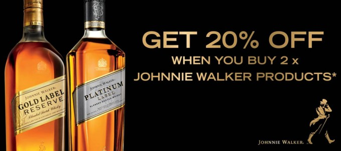 SAVE: 20% Off Johnnie Walker when you buy 2 at Aelia Auckland Duty Free
