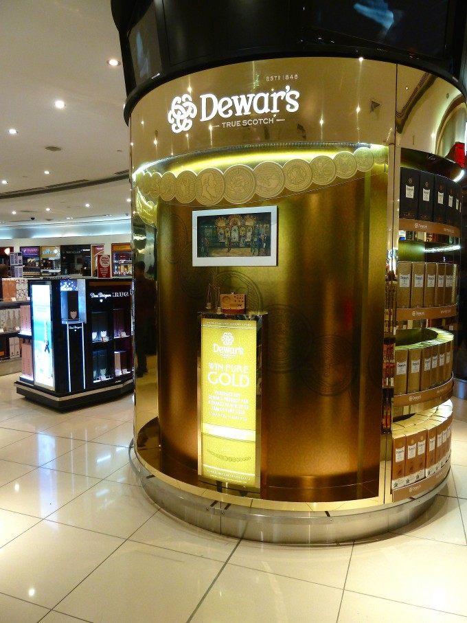 Dewar's sparks Gold Rush at Dubai Duty Free
