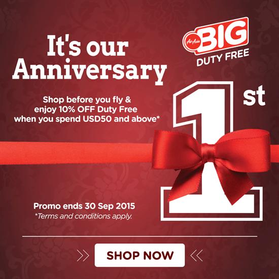 SAVE: Air Asia BiG Duty Free – 10% off online shopping