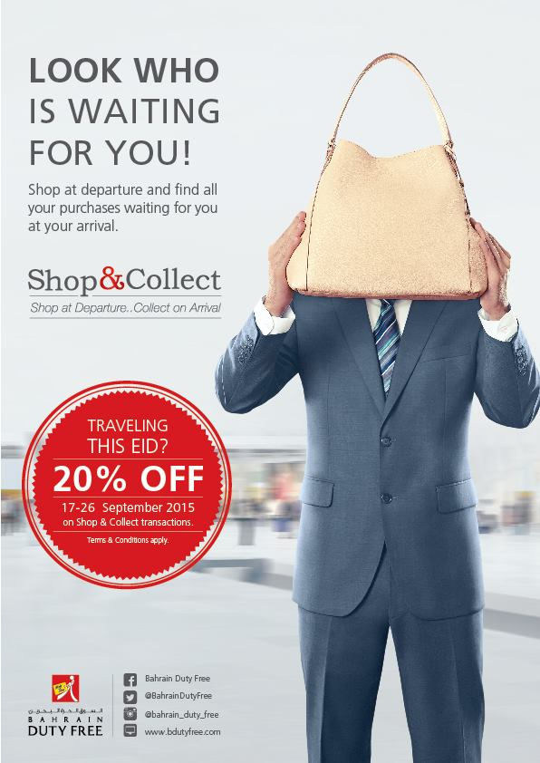 SAVE: 20% off Shop & Collect at Bahrain Duty Free