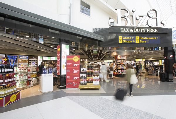 Manchester Airport opens new look Biza duty-free store