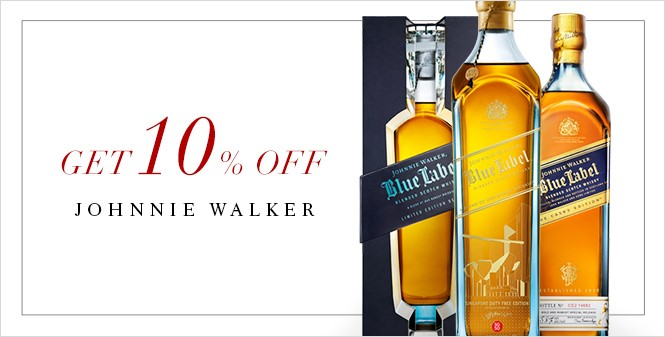 SAVE: 10% off Johnnie Walker Blue Label at DFS Changi