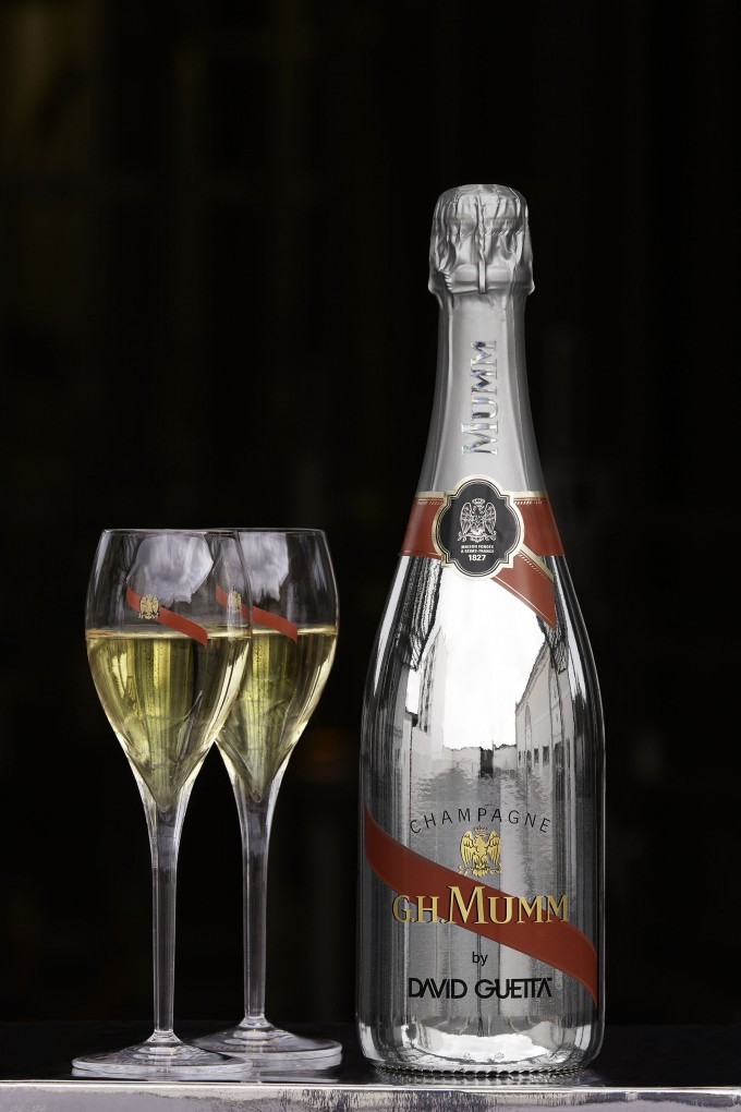 David Guetta re-imagines the iconic Mumm Champagne bottle