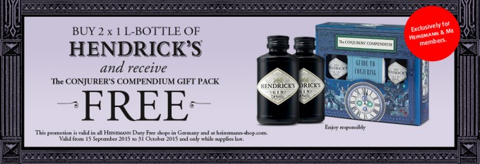 Heinemann Duty Free + Hendrick's Gin = Magic…