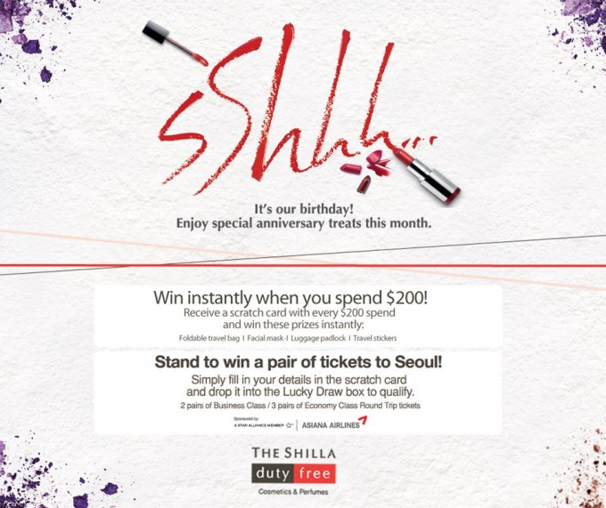 Shilla Changi starts its birthday party with flights to Seoul competition