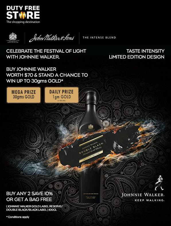Gold Rush! Win gold with Johnnie Walker at Bengaluru Duty Free