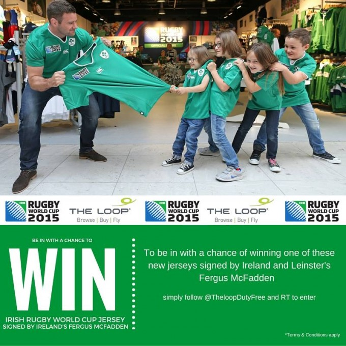 WIN: Signed Ireland Rugby shirt from The Loop Duty Free