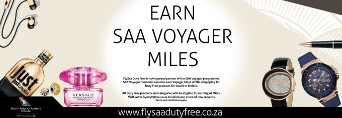SAA Voyager members 'earn & burn' miles on duty free shopping