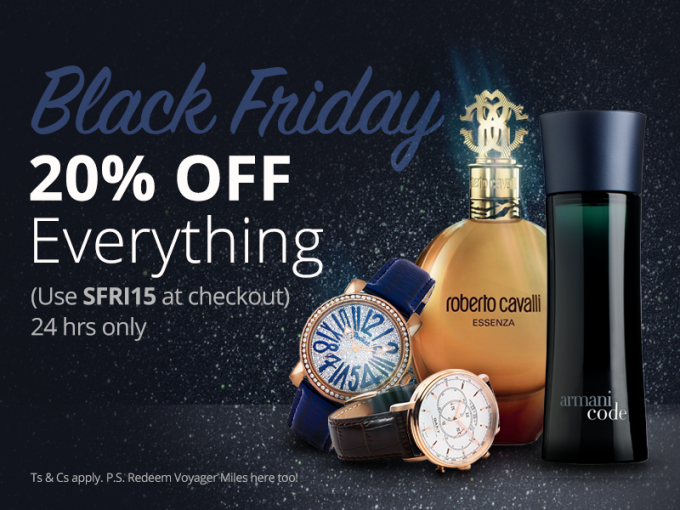 SAVE: 20% Black Friday discount on SAA Duty-Free