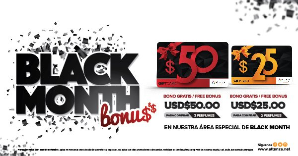 Attenza Duty Free launches Black Month perfume promotion