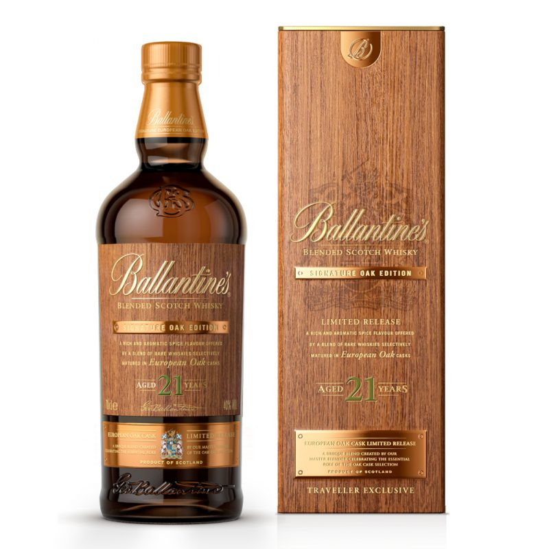 Ballantines-21-Year-Old-Signature-Oak-Bottle-and-Presentation-Box