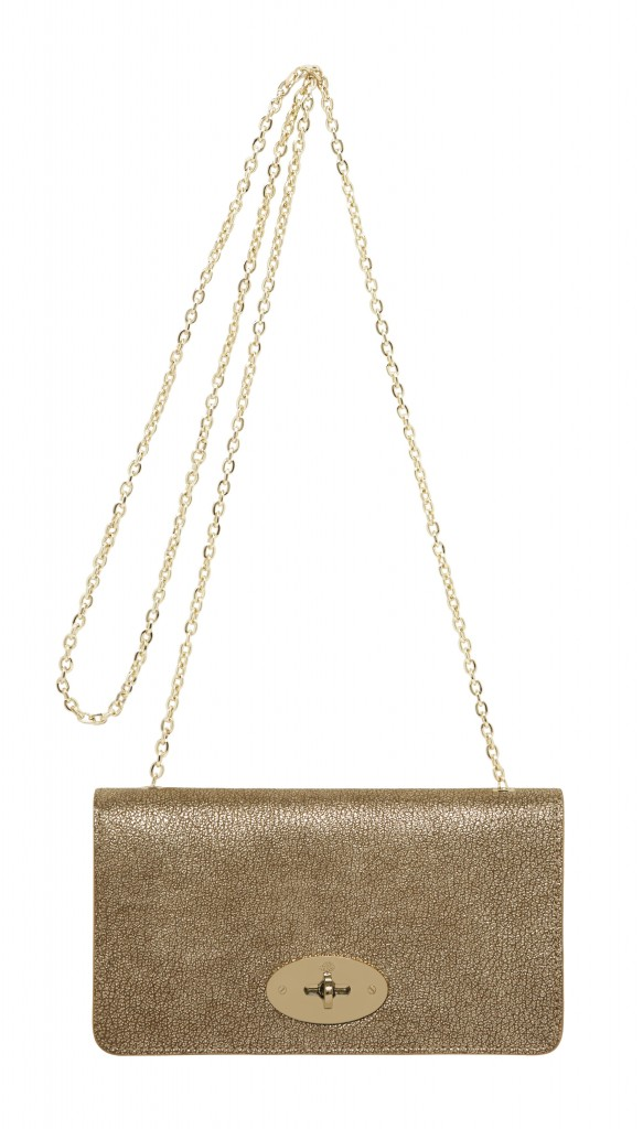 Bayswater Clutch Wallet in Metallic Mushroom Goat Leather £495