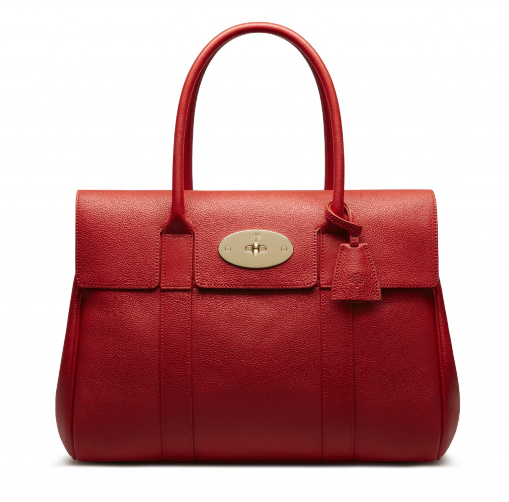 Bayswater in Fiery Spritz Small Classic Grain Leather £995