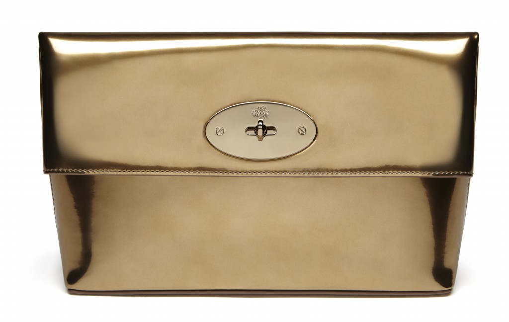 Clemmie in Gold Metallic Mirror Leather £495