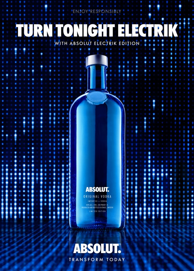 Absolut Electrik sparks life into duty-free