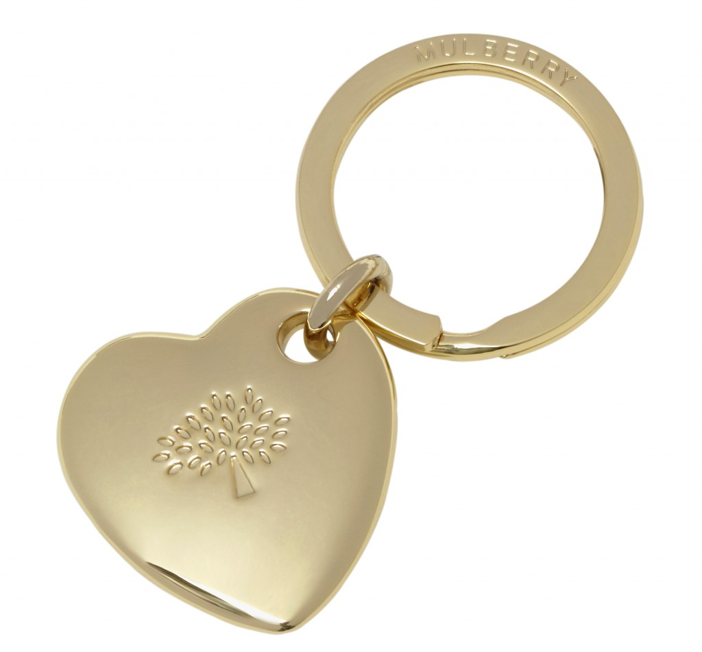 Heart Key Ring in Soft Gold Metal £70