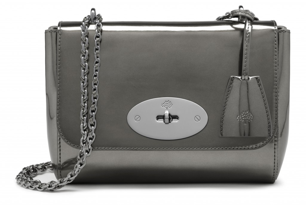 Lily in Silver Metallic Mirror Leather £745