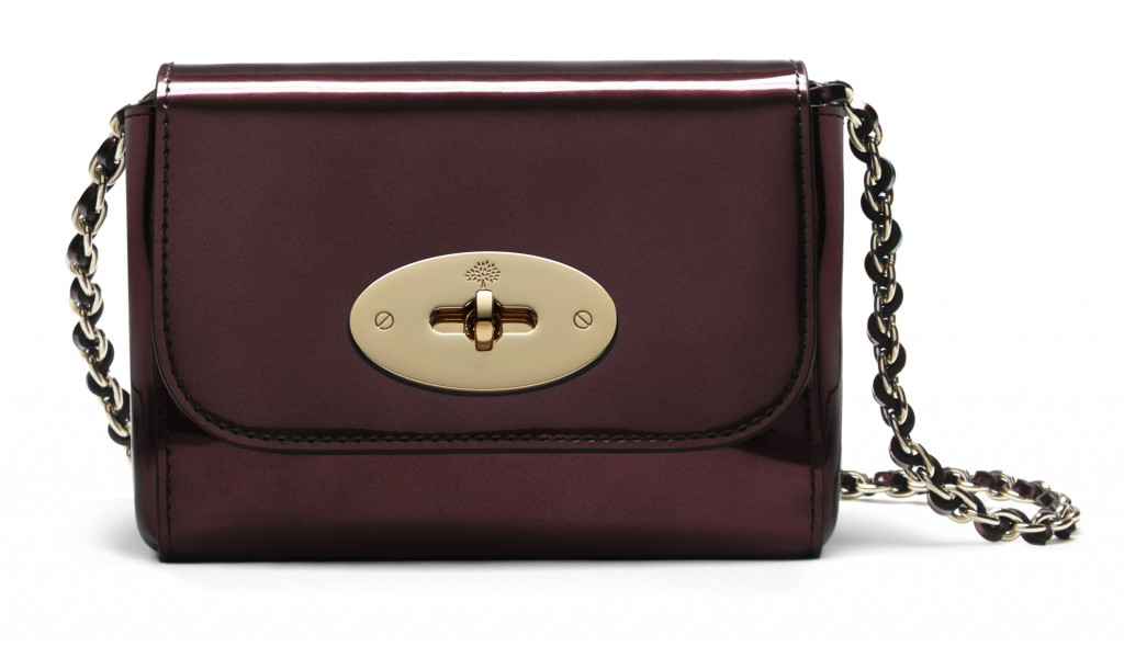 Mini Lily in Mirror Oxblood Metallic Leather £375