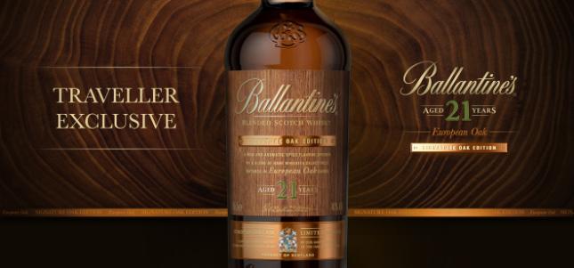Ballantine's reveals Signature Oak duty free exclusives