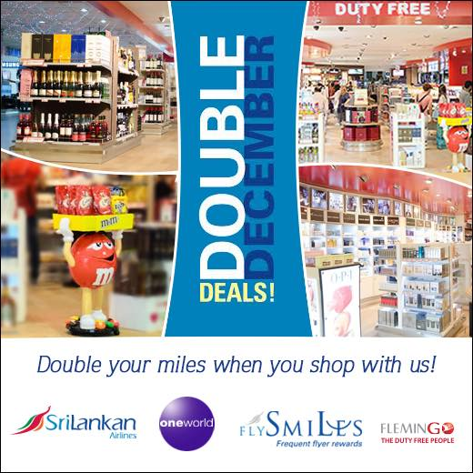 Double miles when you shop at Flemingo Duty Free