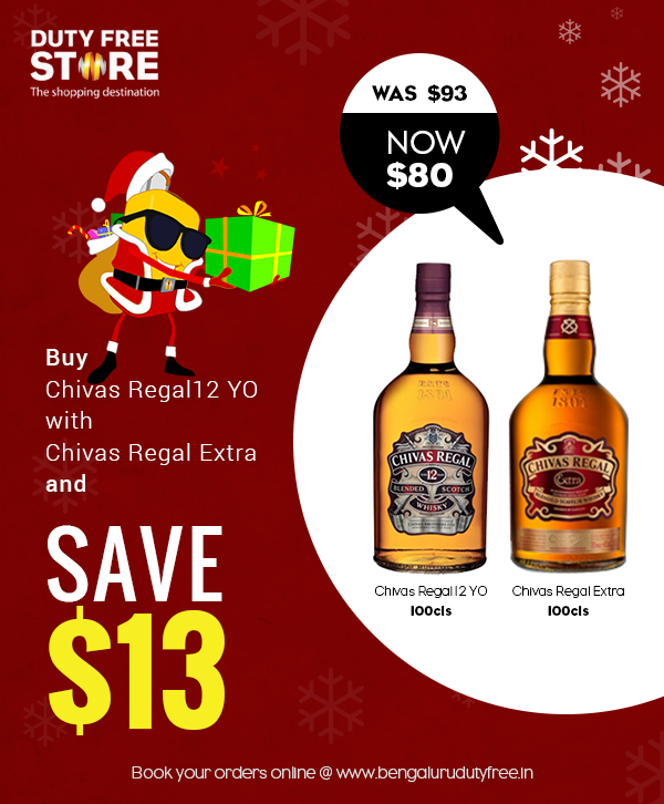 SAVE: Chivas Regal offer at Bengaluru Duty Free