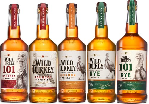 New look for Wild Turkey Bourbon