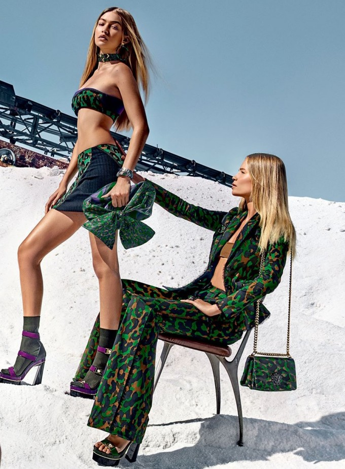 Salt + Supermodels = Versace SS16