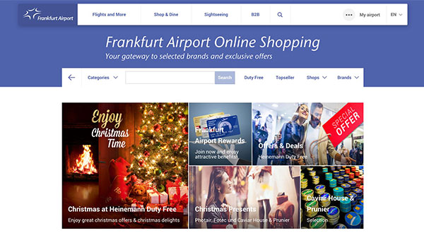 Frankfurt airport unveils online duty-free shopping channel