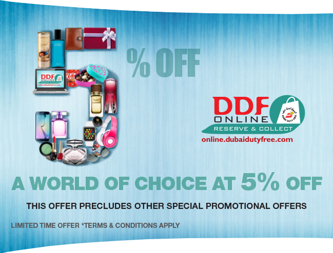 SAVE: Dubai Duty Free 5% off with online pre-order