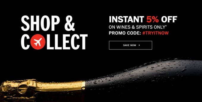 SAVE: Pre-order with DFS at Mumbai airport and save 5% on Wines & Spirits