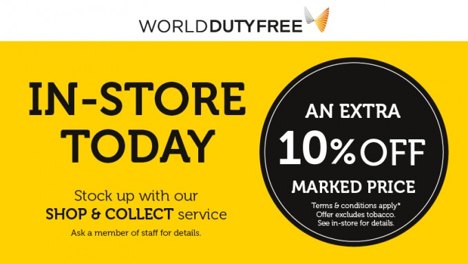 Jet Set for less: 10% discount at World Duty Free & Biza stores