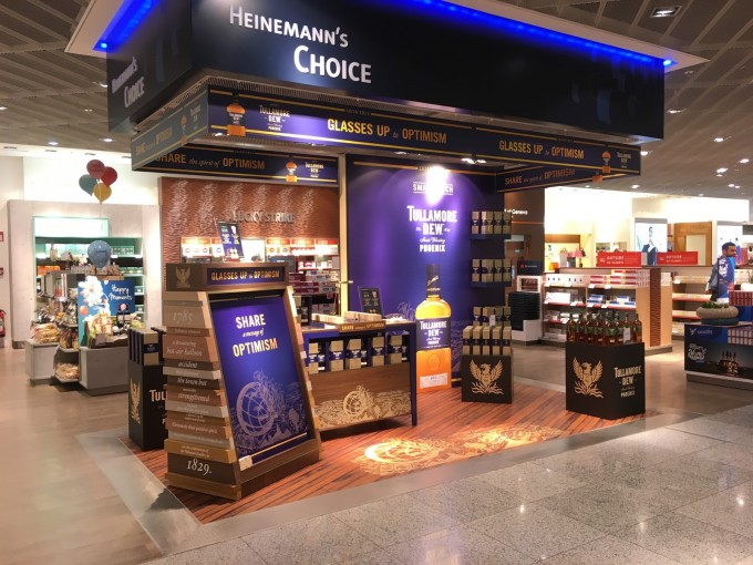 Celebrate St Patrick's Day at Frankfurt airport with Tullamore D.E.W.