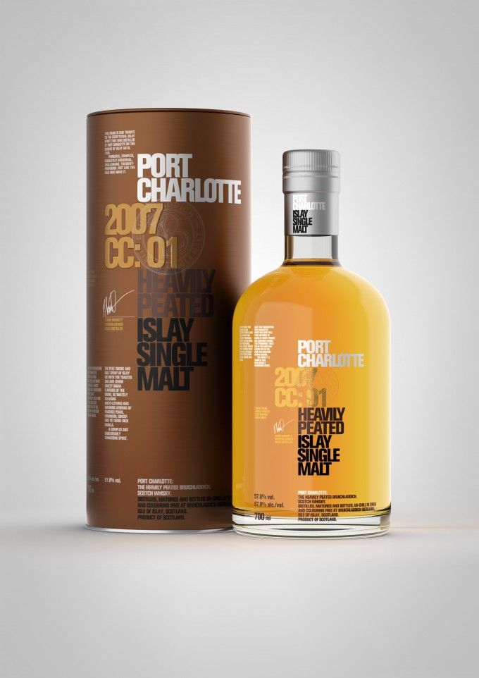 Bruichladdich launches Port Charlotte 2007 CC:01 exclusive to duty free