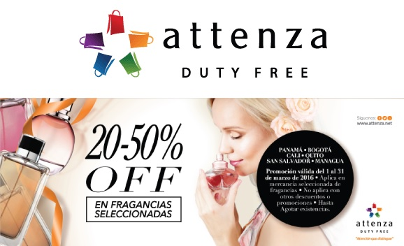 SAVE: 20% and more on fragrances at Attenza Duty Free