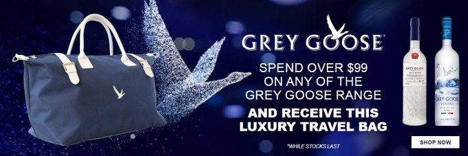 FREE: Grey Goose travel bag when you buy at Aelia Duty Free NZ