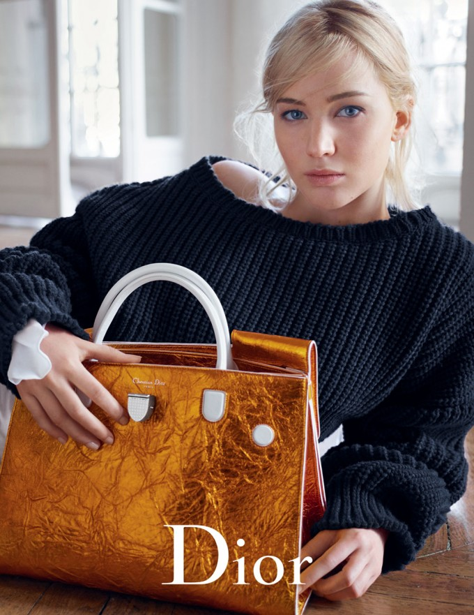 Diorama bags shine with Jennifer Lawrence in spring campaign