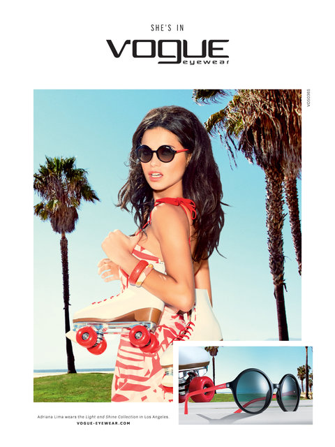 Adriana takes L.A. for Vogue Eyewear campaign