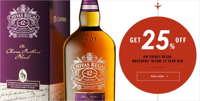 SAVE: 25% off Chivas Brothers Blend at DFS Singapore