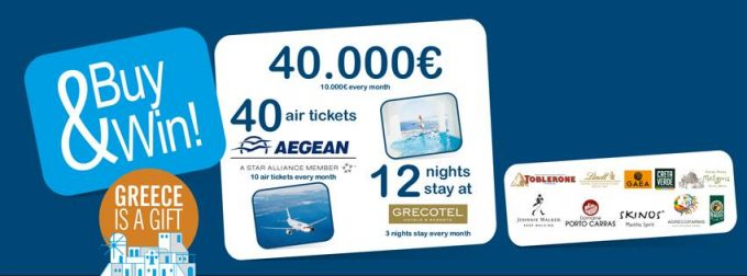 Spend, Win & Fly with Hellenic Duty Free and Aegean Airlines promo